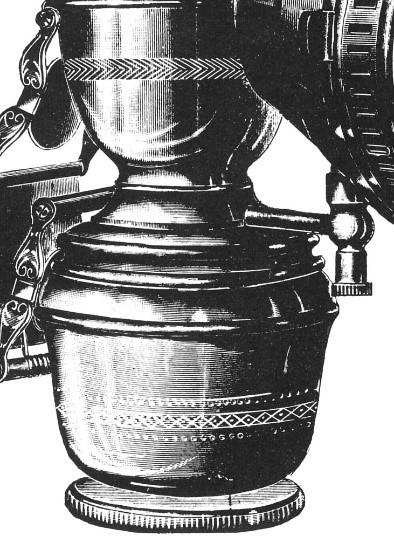 Fuß und Carbid-Behälter der WMI-Lampe von 1900