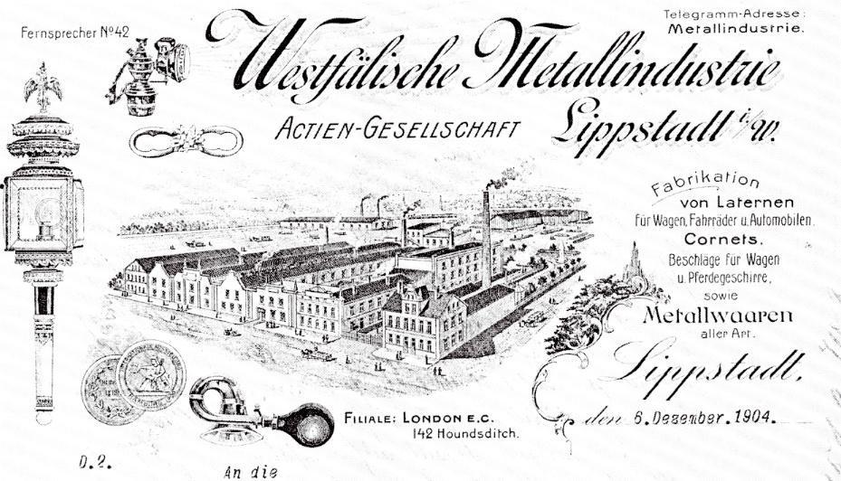 Schaubild der Westfälischen Metallindustrie