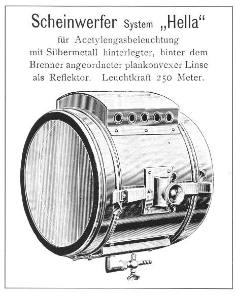 """Beschreibung des Scheinwerfersystems """"Hella"""""""
