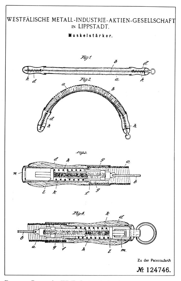 """erstes WMI-Patent  eines """"Muskelstärkers"""""""
