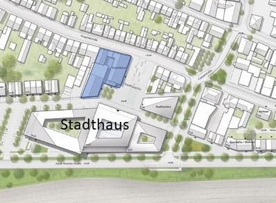 Lageplan mit eingezeichnetem Gründergrundstück  von Sally Windmüllers Firma