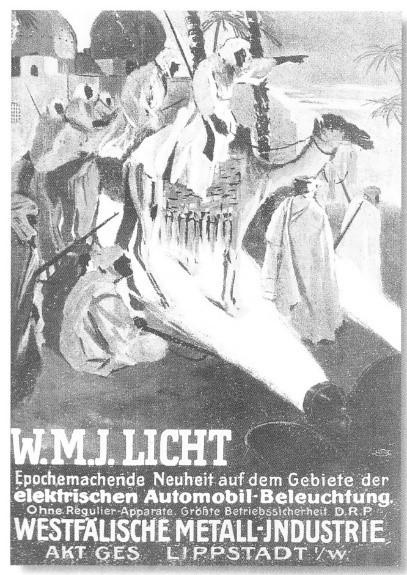 WMI-Werbeplakat Lippstädter Lampen in der Kriegsverwendung