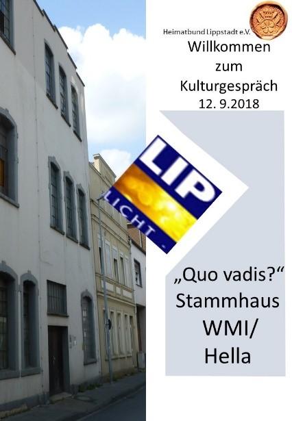"""Deckblatt Kulturgespräch """"Que vadis?"""" 2018"""