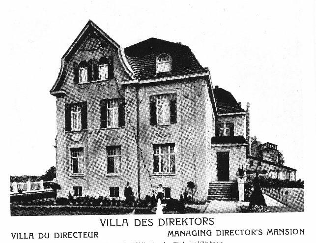 Die 1899 erbaute Villa des Direktors